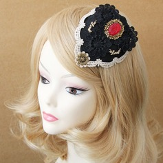 Ladies' Vintage Spring/Autumn/Winter Cotton/Lace With Pearl Beret Hat
