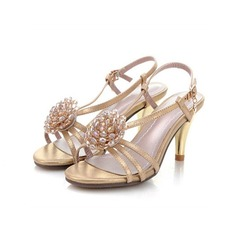 Women's Real Leather Stiletto Heel Sandals Slingbacks With Flower Braided Strap shoes
