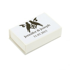 Personalized Hard Card Paper Matchboxes (Set of 12)