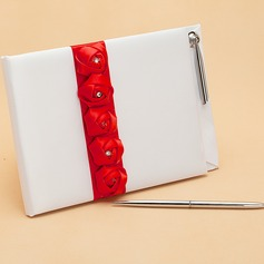 Lovely Rose Rhinestones Guestbook & Pen Set