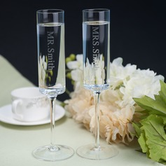 Personalized Glass Toasting Flutes