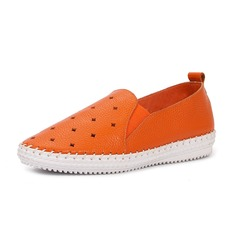 Real Leather Low Heel Flats Closed Toe shoes