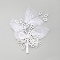 Beautiful Imitation Pearls/Lace Hairpins