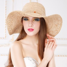 Ladies' Unique Summer Raffia Straw With Floppy Hat/Straw Hat
