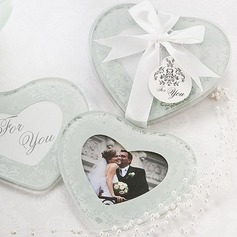 Heart Shaped Glass Coaster (Set of 2 pieces)