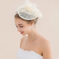 Ladies' Nice Spring/Summer/Autumn/Winter Net Yarn/Tulle With Feather Fascinators