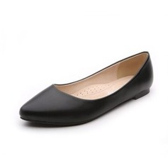 Leatherette Flat Heel Closed Toe shoes