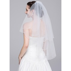 Two-tier Elbow Bridal Veils With Beaded Edge (006078825)