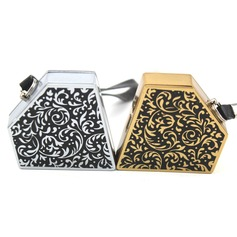Personalized Floral Design Stainless Steel Electronic Lighter