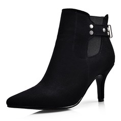 Women's Suede Stiletto Heel Pumps Closed Toe Boots Ankle Boots shoes