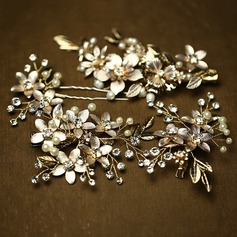 Elegant Rhinestone/Imitation Pearls Hairpins/Combs & Barrettes (Set of 4) (042088093)