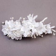 Crystal/Imitation Pearls/Fabric Flowers & Feathers
