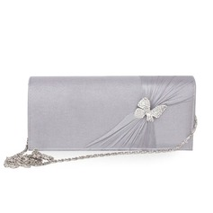 Fashional Silk With Crystal/ Rhinestone Clutches/Cross-Body Bags