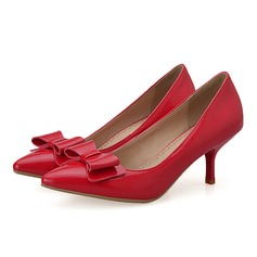 Women's Leatherette Spool Heel Pumps With Bowknot shoes