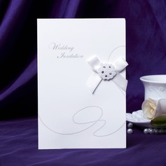 Classic Style Side Fold Invitation Cards With Bows