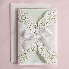 Personalized Artistic Style Wrap & Pocket Invitation Cards With Bows