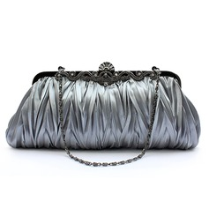 Gray Gorgeous Silk Evening Clutches More Colors Available (012005433)