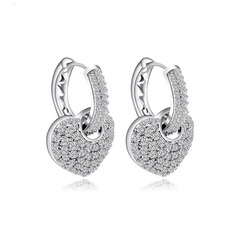 "Lovely Copper/Platinum plating/""AAA"" Level Zircon Women's/Ladies' Earrings"
