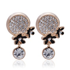 Unique Alloy With Crystal Ladies' Earrings