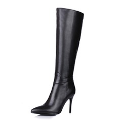 Real Leather Stiletto Heel Knee High Boots Riding Boots shoes