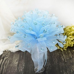 Cute Round Organza/Acrylic Bridesmaid Bouquets