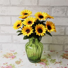 Unique Sunflower Cloth Wedding Table Flowers (Sold in a bunch,contains 7 branches and 7 flower heads)