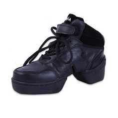 Women's Real Leather Boots Practice Dance Shoes