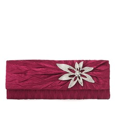 Charming Silk With Rhinestone Clutches