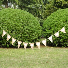Heart Design/Triangle Burlap Photo Booth Props/Banner