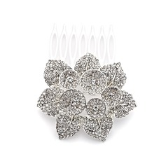 Alloy With Rhinestones Wedding Hair comb