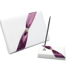 Pretty Rhinestones Guestbook/Pen Set
