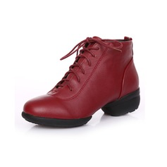Real Leather Sneakers Practice Dance Shoes