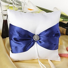 Splendor Ring Pillow With Sash/Rhinestones