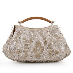 Cute Satin/Metal/Rhinestone Clutches/Bridal Purse