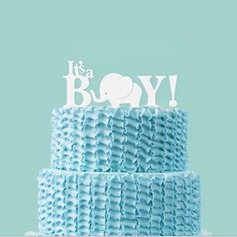 Mix & Match It's a Boy Acrylic Baby Shower Cake Topper