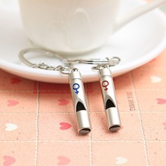 "Classic ""Whistles of Love"" Zinc alloy Keychains (set of 4 pairs)"