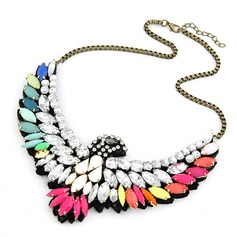 Animal Designed Alloy With Imitation Crystal Girls' Fashion Necklace