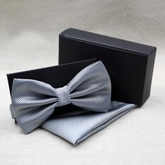 Solid Color Polyester Bow Tie Pocket Square (200081823)