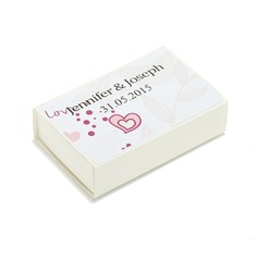 Personalized Heart design Hard Card Paper Matchboxes
