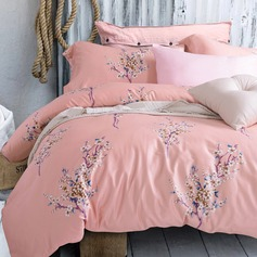 Country Modern/Contemporary Cotton Comforters (4pcs :1 Duvet Cover 1 Flat Sheet 2 Shams)