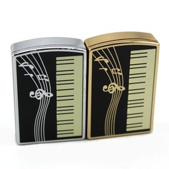 """Personalized """"Musical Notes"""" Stainless Steel Electronic Lighter"""