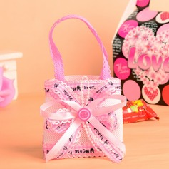 Classic Handbag shaped Favor Bags With Ribbons (Set of 12)