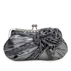 Elegant Satin/Fabric With Flower/Rhinestone Clutches