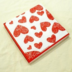 Heart Design Dinner Napkins  (011036236)