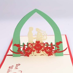 Three-dimensional Happy Wedding Greeting Cards
