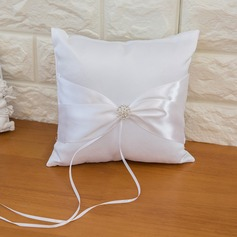 Pure Elegance Ring Pillow in Satin With Ribbons/Bow