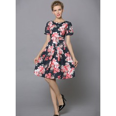 Polyester/Poplin With Print Above Knee Dress (199086993)