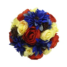 Gorgeous Hand-tied/Round Satin Bridal Bouquets