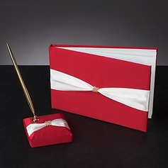 Perfect Satin Bow Guestbook/Pen Set