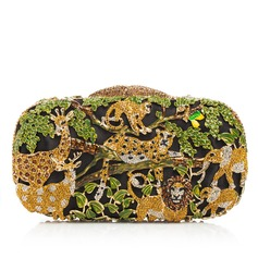 Attractive Rhinestone/Alloy Clutches/Luxury Clutches